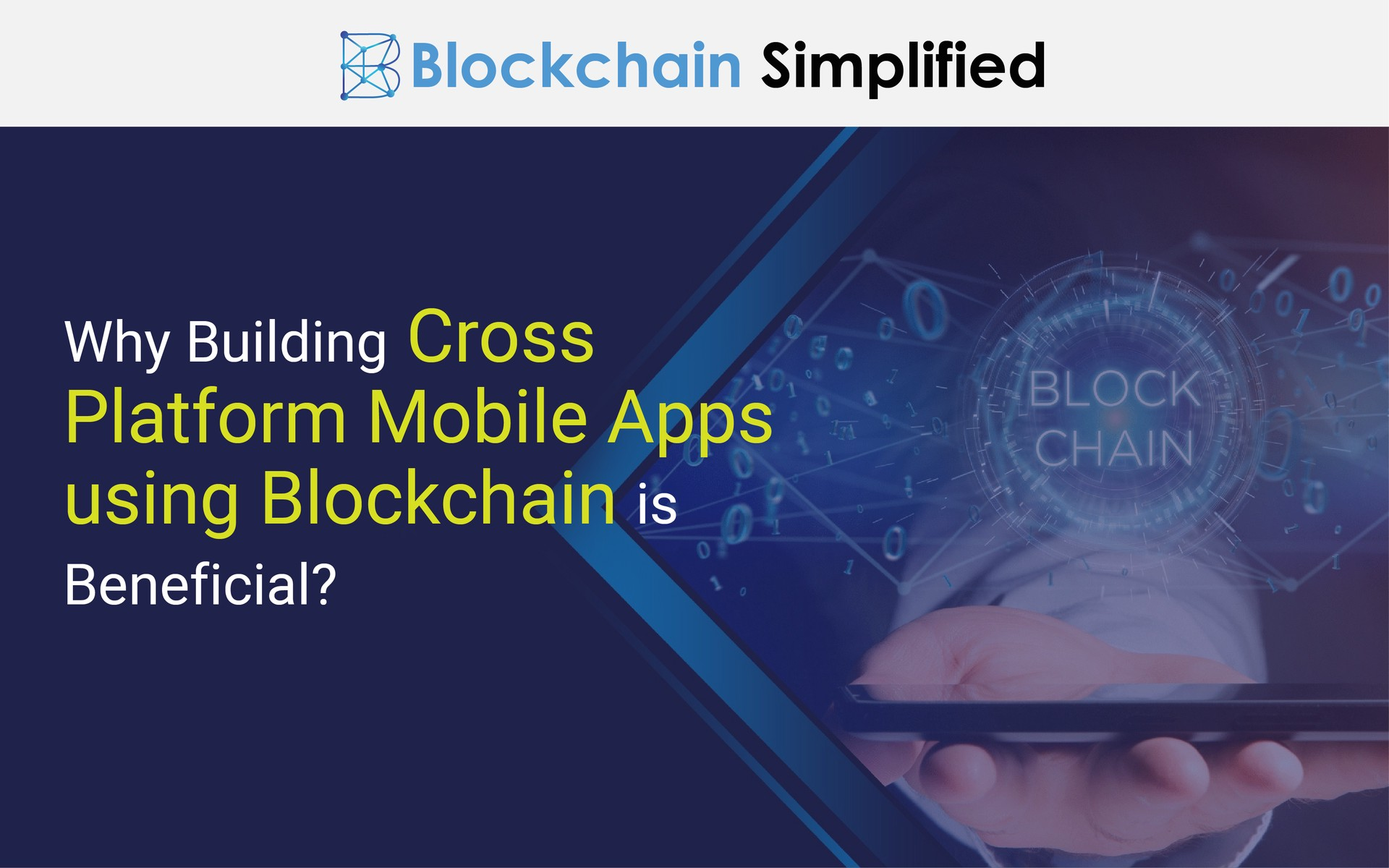 Mobile apps using Blockchain main